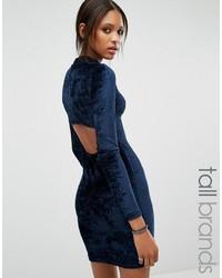 Noisy May Tall Open Back Velvet Bodycon Dress