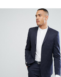 ASOS DESIGN Asos Tall Skinny Suit Jacket In Navy Pinstripe