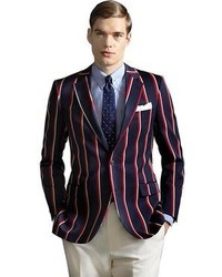 Brooks Brothers The Great Gatsby Collection Red White And Navy Stripe Regatta Blazer