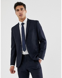 Jack & Jones Premium Slim Suit Jacket In Navy Pinstripe