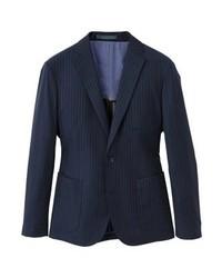 Mango Suit Jacket Dunkles Marineblau