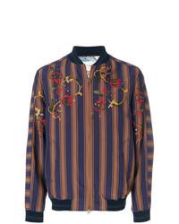 Etro Embroidered Striped Bomber Jacket