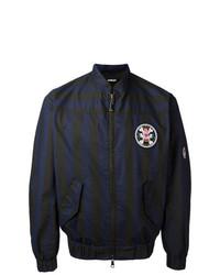 Vivienne Westwood MAN Striped Bomber Jacket Blue