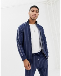 The Couture Club Track Top In Pinstripe