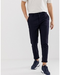 Selected Homme Slim Tailored Trousers With Zip Opening In Ankle Length