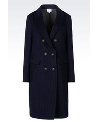 Navy Vertical Striped Coat