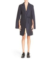 La veste nouee longue pinstripe coat medium 517205