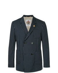 Education From Youngmachines Double Breasted Pinstripe Blazer