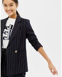 New Look Pinstripe Blazer Co Ord Pattern