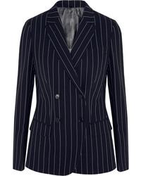 Agnona Pinstriped Wool Blend Blazer
