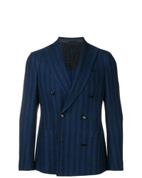 Etro Striped Double Breasted Blazer
