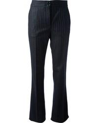 Navy Vertical Striped Dress Pants