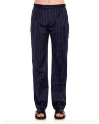 J.W.Anderson Double Pleat Pinstripe Wool Trousers