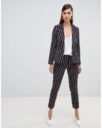 UNIQUE21 Unique 21 Stripe Ankle Grazer Tailored Trousers