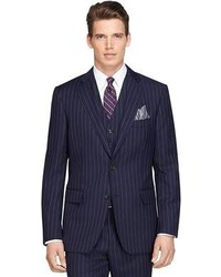 Navy Vertical Striped Suit
