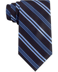 Navy Vertical Striped Tie