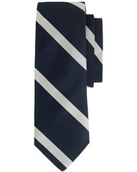 English silk tie in diagonal stripe medium 164853