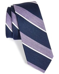 The Tie Bar Stripe Silk Blend Tie
