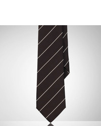 Ralph Lauren Black Label Striped Peau De Soie Tie
