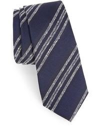 Alexander Olch Textured Stripe Silk Tie