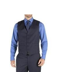 Pierre Cardin Navy Stripe Waistcoat 38r Navy