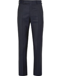 Paul Smith Navy Slim Fit Pinstriped Wool Suit Trousers