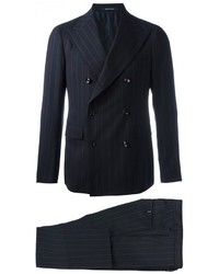 Tagliatore Double Breasted Pinstripe Two Piece Suit