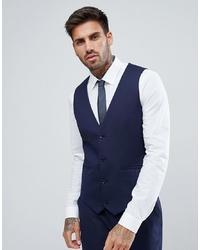 ASOS DESIGN Skinny Suit Waistcoat In Navy