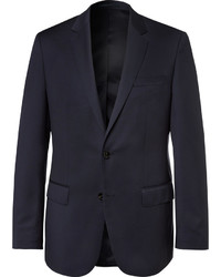 Hugo Boss Blue Hayes Slim Fit Super 120s Virgin Wool Suit Jacket