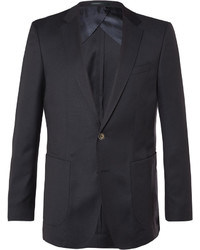 Hugo Boss Blue Nordon Slim Fit Birdseye Wool Blazer