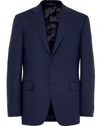 Blue slim fit travel water resistant wool blazer medium 642230