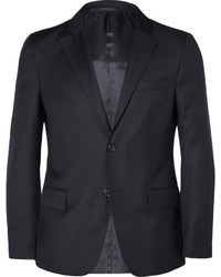 Officine Generale Blue Slim Fit Wool Blazer