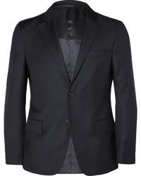 Blue slim fit wool blazer medium 585866