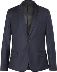 Blue wool twill blazer medium 592023