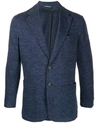 Canali Fitted Single Breasted Blazer