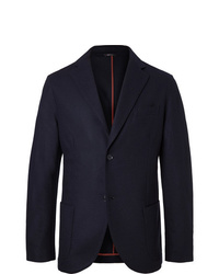Loro Piana Navy Slim Fit Cashmere Blazer