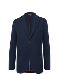 Loro Piana Navy Slim Fit Unstructured Cashmere And Virgin Wool Blend Blazer