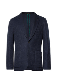 Paul Smith Navy Soho Slim Fit Unstructured Textured Cotton Blazer