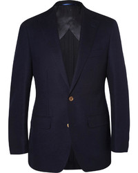 Thom Sweeney Navy Curzon Slim Fit Wool Blazer