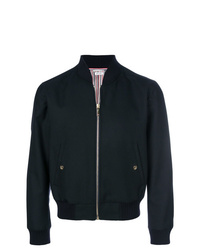 Thom Browne Center Back Engineered Stripe Wool Twill Blouson Jacket
