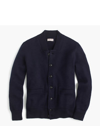 J.Crew Wallace Barnes Boiled Wool Bomber Jacket