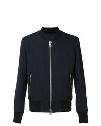 AMI Alexandre Mattiussi Zipped Bomber Jacket Blue