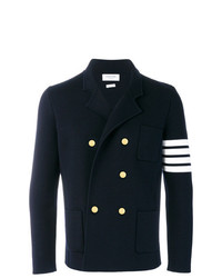 Thom Browne 4 Bar Stripe Double Breasted Merino Wool Sport Coat