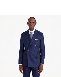 8dd2af3e920 J.Crew Ludlow Double Breasted Suit Jacket In Heathered Italian Wool Flannel