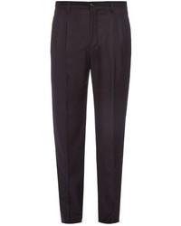 Giorgio Armani Pleated Flannel Wool Trousers