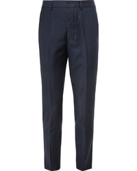 Navy tapered wool trousers medium 592018