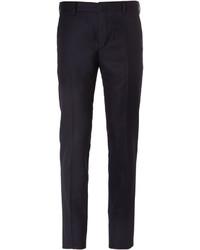 Slim fit super 120s wool flannel trousers medium 800712