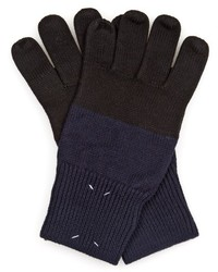 Maison Margiela Bi Colour Wool Blend Gloves
