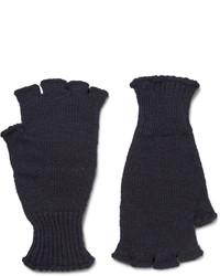 Margaret Howell Mhl Ribbed Wool Fingerless Gloves
