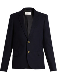 Saint Laurent Notch Lapel Wool Jacket